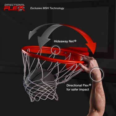 Exclusive MSH Technology. Hideaway Net®. Directional Flex® for safer impact