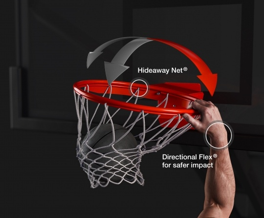 Hideaway Net®. Directional Flex® for safer impact